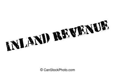 Inland Revenue rubber stamp. Grunge design with dust scratches. Effects can be easily removed for a clean, crisp look. Color is easily changed.