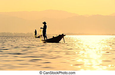 Inle Lake fiserman, Myanmar