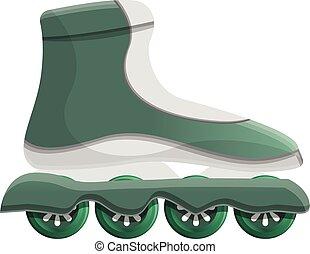 Inline skates icon, cartoon style
