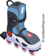 Inline skates icon, isometric style