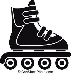Inline skates icon, simple style