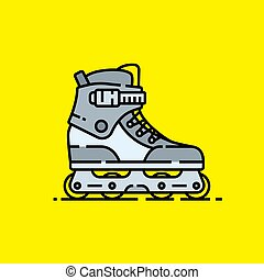 Inline skates line icon