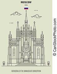 inmaculado, catedral, concepción, señal, russia., icono, ...