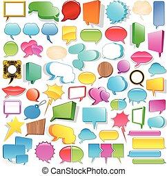 inmenso, discurso, colección, burbuja