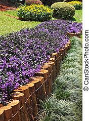 inmenso, jardinería, -, parque, obra maestra, tailandia,...