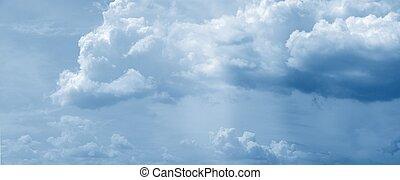 inmenso, nube, panorama