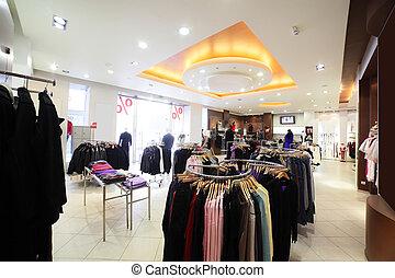 inmenso, tienda de ropa, colección, europeo