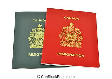inmigración, documentos, de, canadá