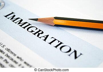 inmigración, forma