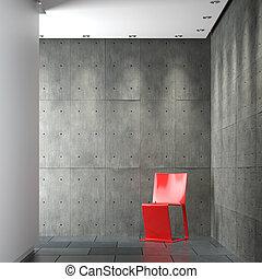 innenarchitektur, zusammensetzung, minimalistic