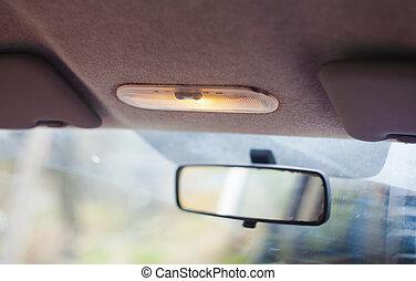 inneneinrichtung, auto, weicher fokus, licht
