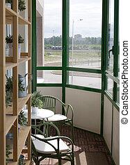 inneneinrichtung, balkon