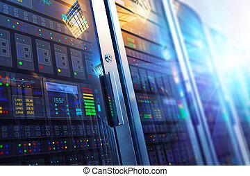 inneneinrichtung, datacenter, zimmer, server