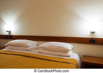 inneneinrichtung, hotel, modernes zimmer