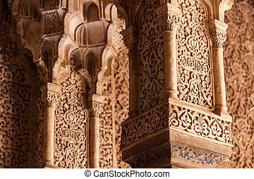 inneneinrichtung, islamisch, palast