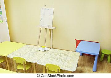 inneneinrichtung, kindergarten