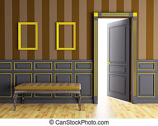 inneneinrichtung, klassisch, couch