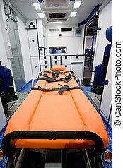 inneneinrichtung, krankenwagen