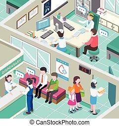 inneneinrichtung, medizinische klinik