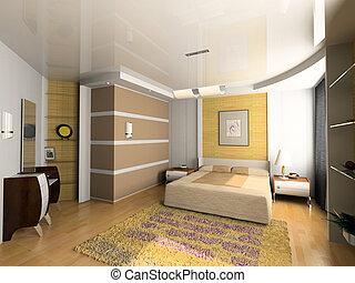 inneneinrichtung, modern, schalfzimmer