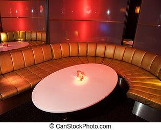 inneneinrichtung, nachtclub