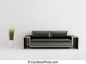 inneneinrichtung, sofa, modern, render, 3d
