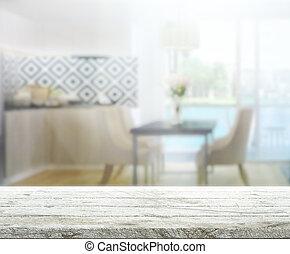 inneneinrichtung, tischplatte, hintergrund, verwischen
