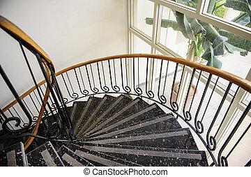 inneneinrichtung, treppenaufgang