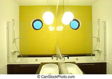 inneneinrichtung, von, a, badezimmer