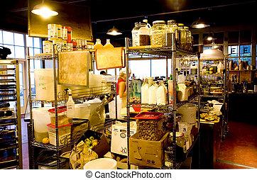inneneinrichtung, von, a, bakery-coffee, laden