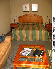 inneneinrichtung, von, a, hotelzimmer