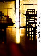 inneneinrichtung, von, a, modern, café