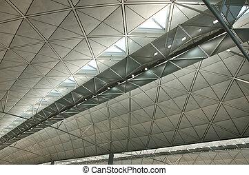 inneneinrichtung, von, modern, internationaler flughafen