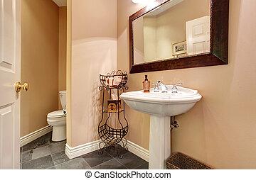 Badezimmer modern waschen stehen spiegel bilder for Inneneinrichtung badezimmer