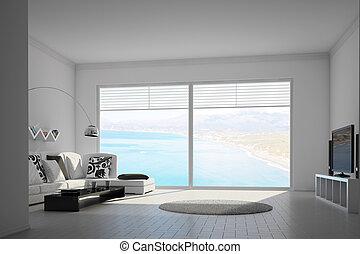 inneneinrichtung, windows, mediteran, groß