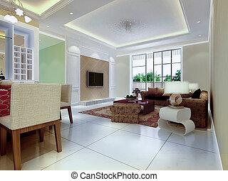 inneneinrichtung modernes zimmer render 3d zimmer stockbild suche fotos und foto. Black Bedroom Furniture Sets. Home Design Ideas