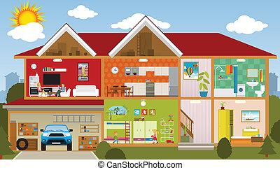Der Haus Clip Art Und Stock Illustrationen 58 276 Der Haus Eps