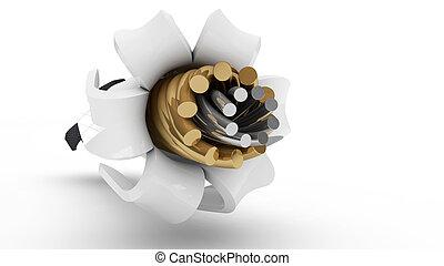 Kupfer draht, spule. Kupfer draht, aus, metall, abbildung ...