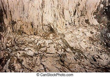 innenseite, höhle, bildung, gestein