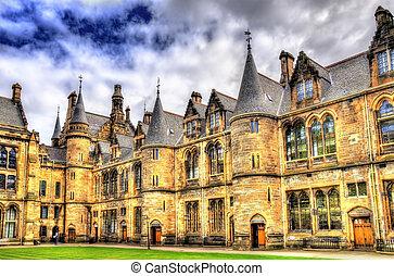 Inner court of Glasgow University - Scotland