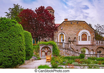 Inner Courtyard of an Old Castle