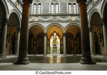 Inner courtyard of Medici Palace - Inner courtyard of Medici...