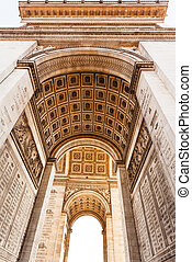 inner facade of Triumphal Arch in Paris