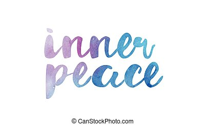 inner peace beautiful watercolor text word expression typography design suitable for a logo banner t shirt or positive quote inspiration design