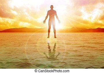 Inner Power - Silhouette illustration of human figure...