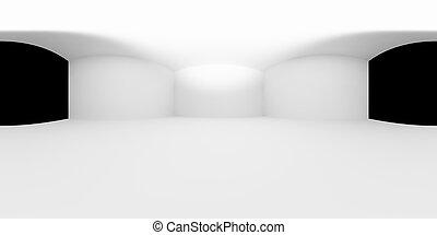 Inner space of white studio room or light box studio HDRI ...