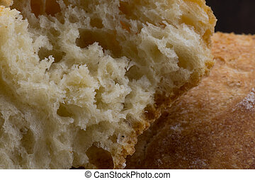 Inner Texture of French Bread