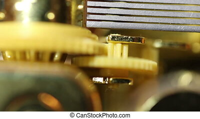 Inner Workings Of Music Box Stop - Music Box Closeup Of...