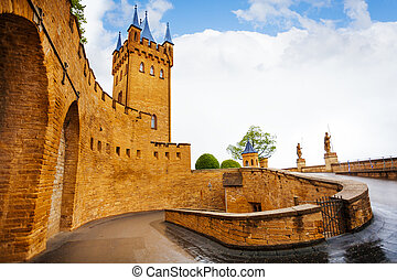 Inner yard of Hohenzollern castle after rain - The path to ...