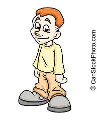 Innocent Cartoon Boy